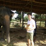 Our client @ Elephants' Home and Nature