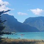 Lord Howe Lagoon, Mt. Gower in background