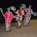 Beautiful fan dancers