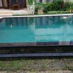 View of lap pool from ground floor door