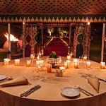 Dining Tent at Amanjena for the signature Moroccan dinner experience