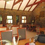 Idube covered dining area, breakfast served here