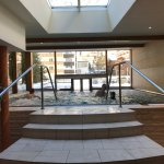 indoor/outdoor warm pool. Kids loved this!!