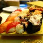 Grande varietà di cibo giapponese