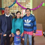 mr. manish khan ( resort mgr. ) with his family