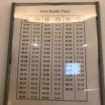 Shuttle timings