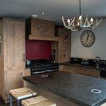 The chalet kitchen.