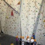 Big climbing wall!