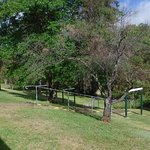 Beautiful grounds with walk to amenity block uphill from camp pitches