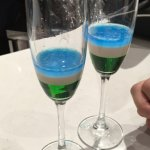 Carlos shots! You choose 3 colors & he makes you a DELICIOUS drink! Tasted like a cookie!