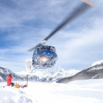 Out and about - heli skiing