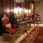 Foyer to Club Room with Christmas Tree