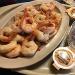 Boiled shrimp $13 for 2 dozen! Served with potato & salad!!