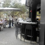 Even outdoor bar seating