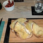 Garlic bread and chorizo for starters.