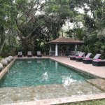Secluded pool just a stride away from the gardens and restaurant