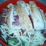Green Salad with Cheddar Cheese and Grilled Chicken