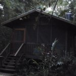 Our hut at Macaw Bank Lodge