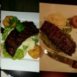 Lomo salteado. On left portion we ate on 12/15. On right portion we ate on 2/17. Dissapointing t