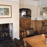 The 'tap room' with woodburner