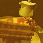 Butterscotch Cake, with Good Peppermint Tea
