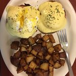 Fantastic Eggs Benedict and home fries!