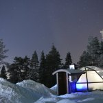 View of igloo 18 at night