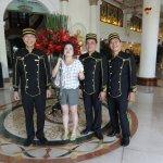 die freundliche und hilfsbereite Portier-Crew des Hotels