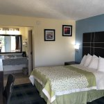 What a 360 flip. Rooms have been upgraded with flat screens tv. They have also HD channels with