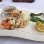 Coco bistro - grilled lobster over jasmine rice with snow pea pods