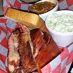 Ribs, Baked Beans, Slaw & Texas Toast