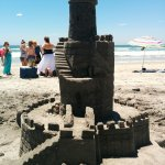 Great detail in the building of the sand castle. Andrew was an expert at teaching us.