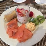 Afternoon snack from the Excellence Club Lounge