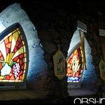 Intérieur et vitraux de la petite chapelle