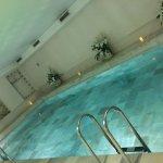 Pool = Nice flowers & warm water. Relaxing? Yes!