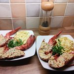 Lobster Thermidor l cooked for my wife and me.