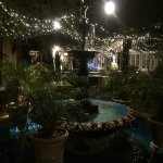 The lovely center courtyard in the evening!