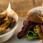 Huntsman Burger - house grind, british huntsman of gloucester cheddar & stilton bleu