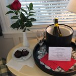 an unexpected and much appreciated special February welcome waiting for us in our room