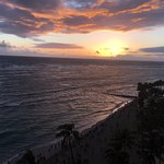 Sunset Over Waikiki Beach from our room
