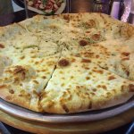 White pizza with onions...yum