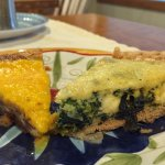 Homemade quiche made with veggies from our innkeeper's harden.
