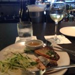 Arctic Char with green mango salad, paired with a German white wine.
