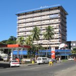 Dolphins Food Court is located in the 'FNPF Place' complex on Victoria Parade, Suva.
