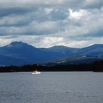 The Huon River and mountains from nearby Franklin