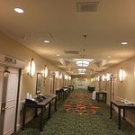 The hallway leading to the banquet rooms.