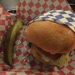 BIG cheeseburger. Delicious!!!!!!!