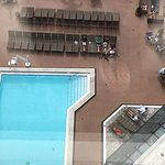 picture of pool on 3rd floor deck from a room on the 17th