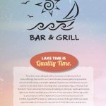 Welcome to Lakeside Bar & Grill where lake time is quality time.