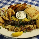 Our platter for two - try many flavors of Greece with this delicious dish - a crowd favorite.